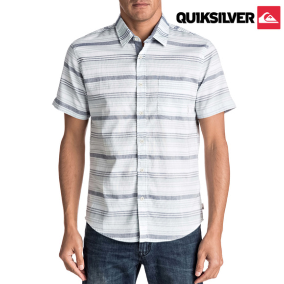 2c2567b93974 QUIKSILVER - Aventail Stripe Woven Short Sleeve